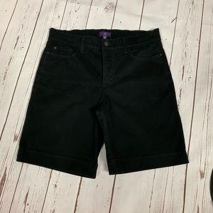 NYDJ Black Bermuda Shorts